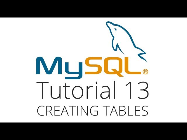 MySQL tutorial 13 - Creating and dropping tables