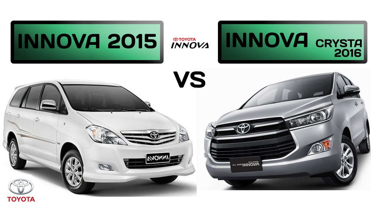 All New Kijang Innova Spec Grand Avanza 1.3 M/t Toyota Crysta 2016 Vs 2015 Specs Comparison Youtube