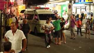 Pattaya Girls and Ladyboys on Walking Street Thailand Nightlife / Девочки, ледибои 2015