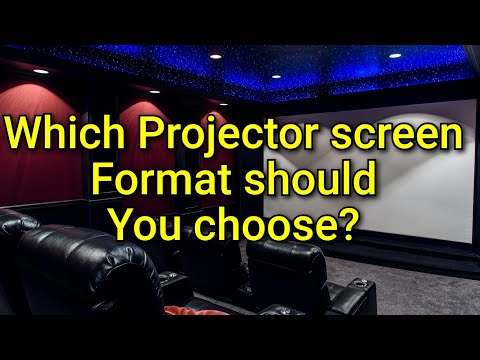 Ep. 12- Selecting The Right Projector Screen Format For Your Home Theater!