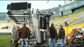 Behind-The-Scenes w/ CBS Sports At Lambeau Field