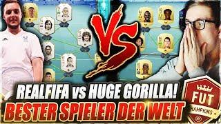 REALFIFA vs HUGE GORILLA IN FUT CHAMPIONS MIT 300K TEAM! 🔥🔥 FIFA 19 Ultimate Team - Weekend League