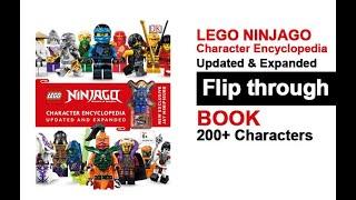 LEGO NINJAGO Character Encyclopedia Updated Book Flip Through with Jay Mini Figure