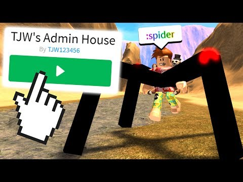 I Went To An ADMIN HOUSE and FOUND NEW COMMANDS! (Roblox)