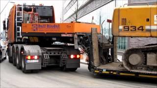 Schwertransport bleibt stecken / Heavy haulage must stop - soeren66
