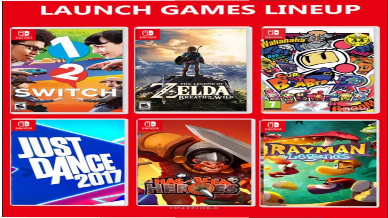 First Look Nintendo Switch Pricing Release Dates And