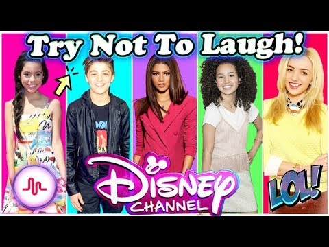 Try Not To Laugh Or Grin Challenge Disney Stars Edition  Funniest Disney Stars Musical.ly 2017