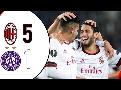 Milan-Austria Vienna 5-1 SKY SPORT AMPIA SINTESI