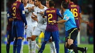 Самые жесткие футбольные бои! Роналду, Ибра, Роббен, Коста, Пепе и другие драчуны!!!