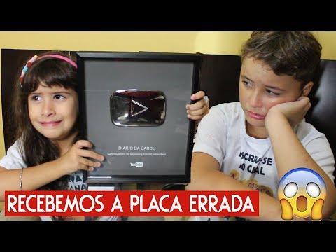 O YOUTUBE NOS MANDOU A PLACA DE 100K ERRADA! Trollando Maria Clara e JP (Ft Diário da Carol)