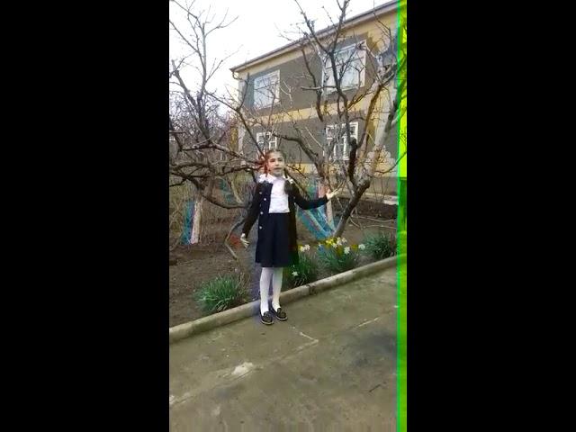 Изображение предпросмотра прочтения – ДианаГаджиева читает произведение «Весна (Уж тает снег...)» А.Н.Плещеева