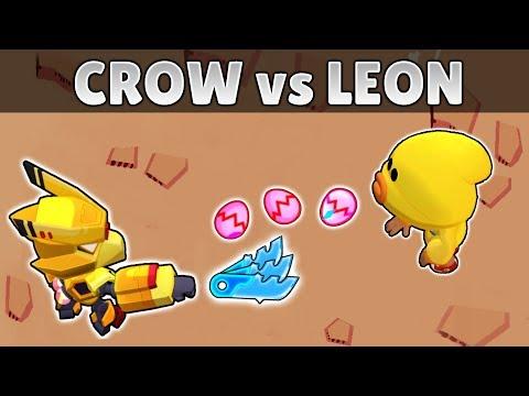 CROW Vs LEON | 1vs1 | 19 Test | Brawl Stars