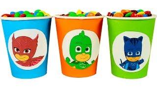 ⚡ PJ MASKS ⚡ Vasos de colores de los PJ Masks con sorpresas | Videos para niños de PJ Masks