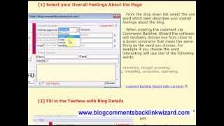 Backlinks Wizard   Comments Generator Section   select your feelings about the blog post or article