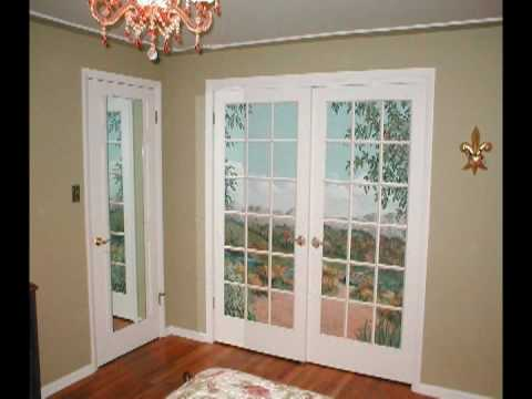 Handpainted Trompe loeil French doors  From ugly to