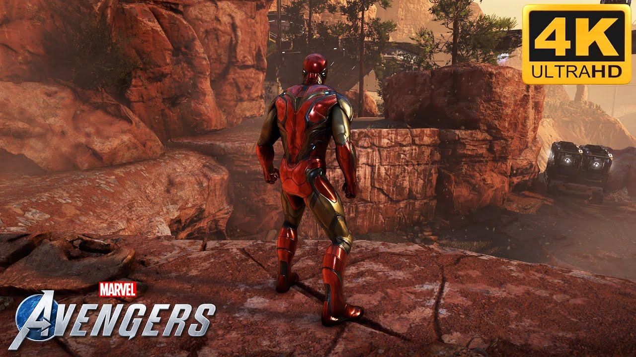 Download Iron Man Endgame Suit | Marvel's Avengers Gameplay  [4K 60FPS]
