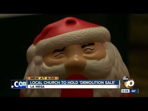 La Mesa church to hold 'demolition sale'