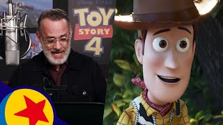 The Cast of Toy Story 4 In the Recording Booth | Pixar Side By Side
