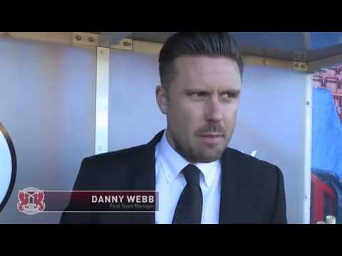 REACTION: Manager Danny Webb following the O's 30 defeat at Crawley Town
