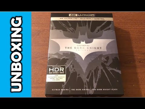 The Dark Knight Trilogy 4K Ultra HD Blu Ray Unboxing!