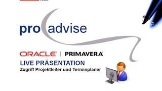 Oracle Primavera P6EPPM - Terminplanung