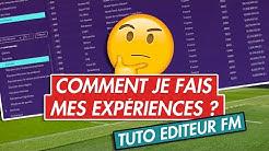 [FM20] TUTO : COMMENT UTILISER L'ÉDITEUR POUR CRÉER VOS EXPÉRIENCES !