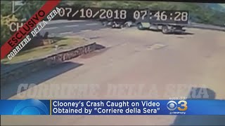 George Clooney's Motorcycle Crash Caught On Video