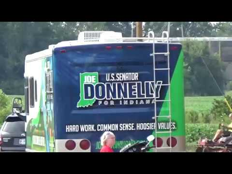 Joe Donnelly gets a special welcome