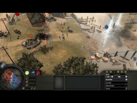 Company Of Heroes Commentary - Gameplay at Vire River Valley