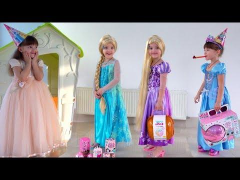 Ksysha and Birthday for Princess with MakeUp toys