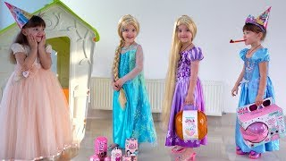 Ksysha and Birthday for Princess with MakeUp toys