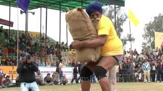 Indian rural weight lifting - old athlete, strong muscles!