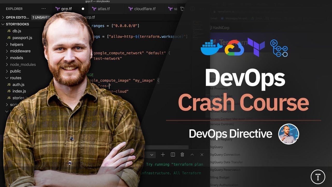 DevOps Crash Course (Docker, Terraform, and Github Actions)
