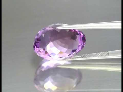 Very Clean! Natural Purple Amethyst 18.42ct 18.3x14mm IF Oval  Shape