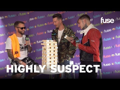 Highly Suspect Praise Grimes While Tackling Fuse's Emoji Tower | Lollapalooza 2017