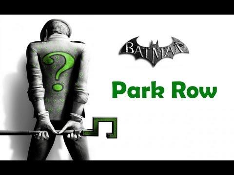 """""""Batman Arkham City"""", ALL Riddler's challenges (trophy/secret/riddle) - Park Row"""