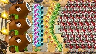 Snow Pea vs Wasabi Whip vs Coconut Cannon vs 999 Zombies Pvz 2