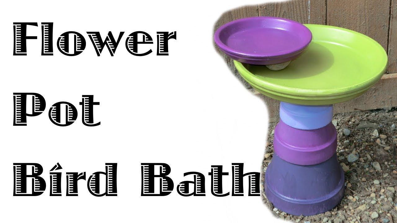 168 & Flower Pot Bird Bath