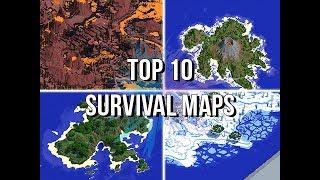 Jeracraft's Top 10 Survival Maps & Islands! Video