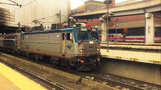 Amtrak & MBTA Trains in South Station