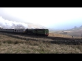 A1 Pacific Tornado drags the first train of the Plandampf over Ais Gill 14.2.17