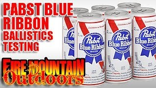 Pabst Blue Ribbon Beer Ballistics Test - Warning - Graphic Content!