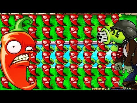 Plants vs Zombies Hack - Jalapeno vs Zombotany and All Zombies PvZ