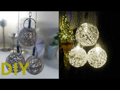DIY: Yarn Ball Lights Decoration (Battery operated)