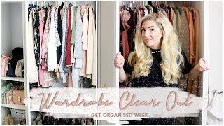 WARDROBE CLEAR OUT | GET ORGANISED WEEK | KATE MURNANE