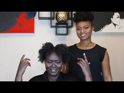 Natural Hair Specialist Styles My Hair + TIPS, etc.--WHAT DID WE LEARN?? Episode 2