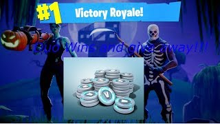 Fortnite Stream helping noob get first win