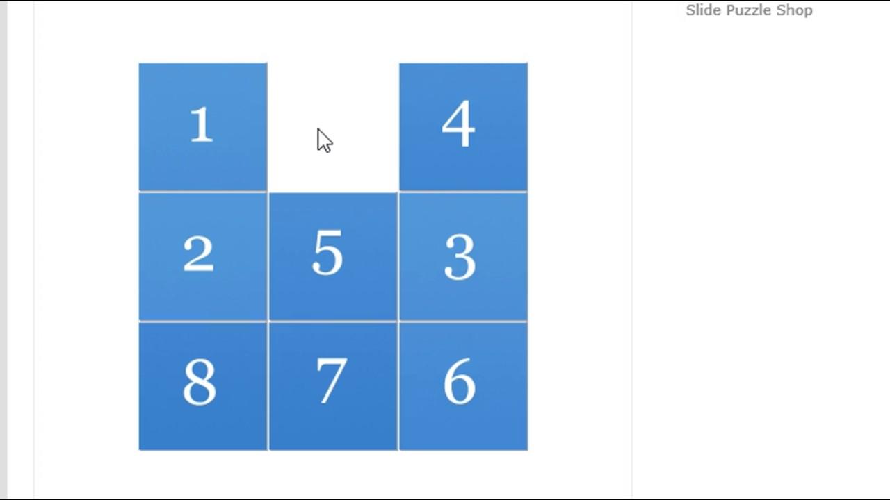 How To Solve 8 Pieces Sliding Puzzle