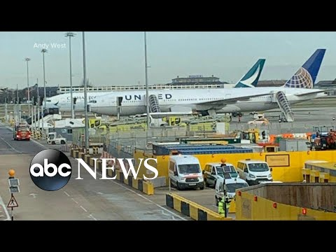 Coronavirus emergency on flight to London