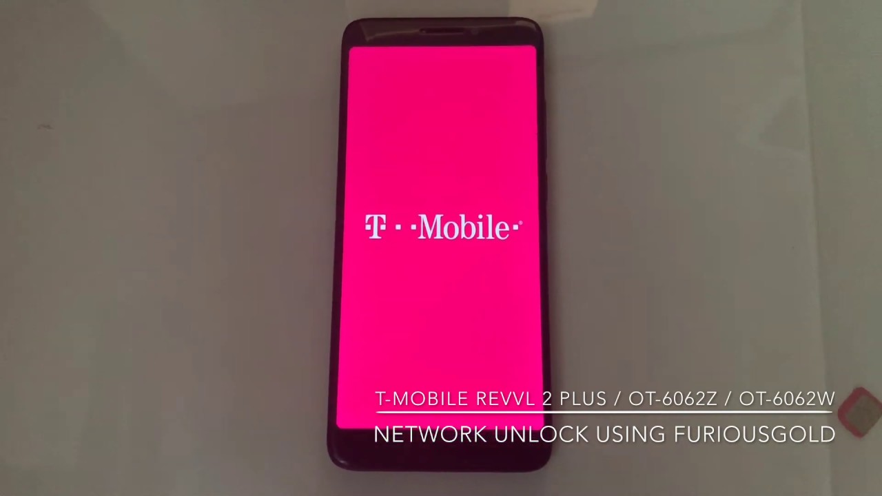 T-MOBILE REVVL 2 PLUS / OT-6062Z / OT-6062W UNLOCK USING FURIOUSGOLD